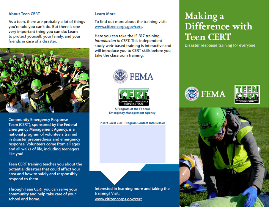 Making a Difference with Teen CERT